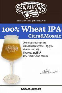 Saldens 100% Wheat IPA Citra Mosaic